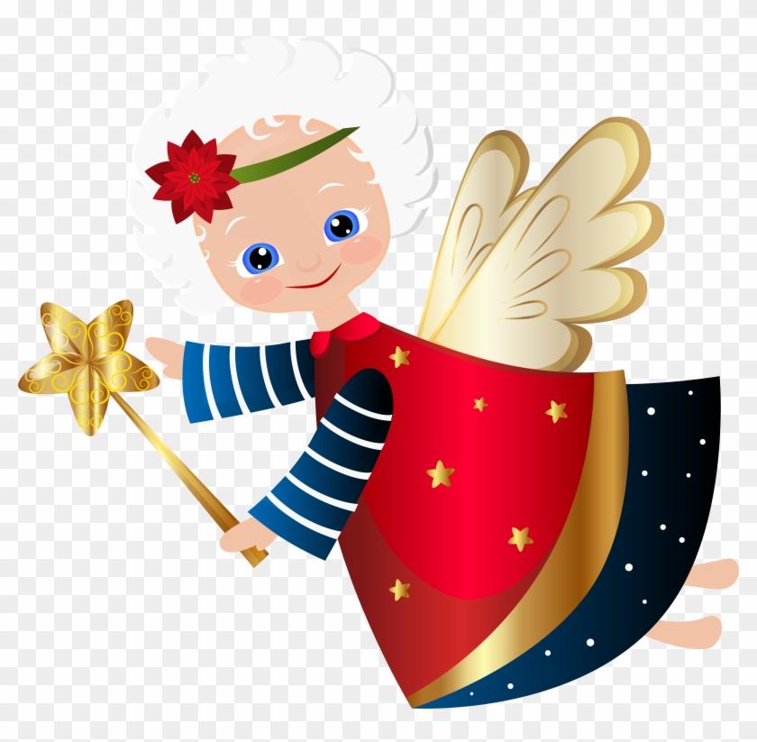 Vector Freeuse Stock Christmas Angel Clipart.
