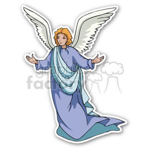 christmas angel v2 sticker clipart. Royalty.