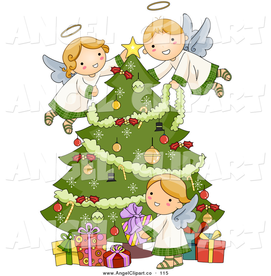 Christmas Angel Tree Clipart.