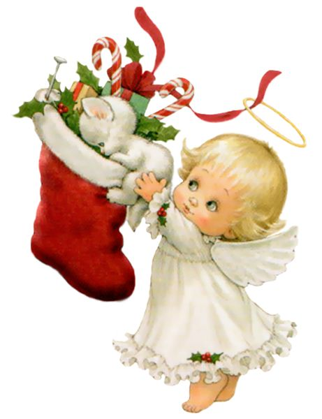 Bright christmas angel clipart.