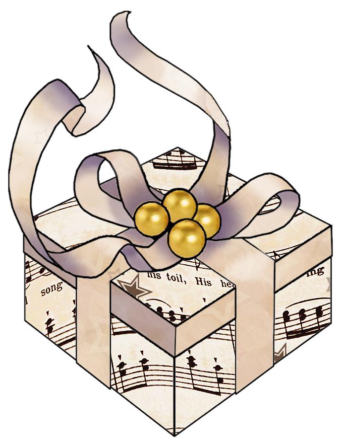 Christmas Harp Music Free Clipart.