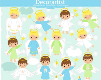 Angel boy clip art.