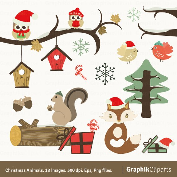 Christmas animals clipart 5 » Clipart Station.