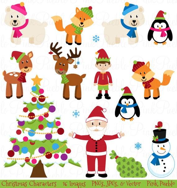 Christmas Clipart Clip Art, Christmas Animal Clipart Clip Art.
