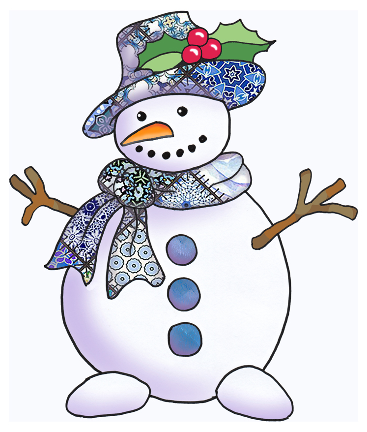 Kids Arts And Crafts D Snowman