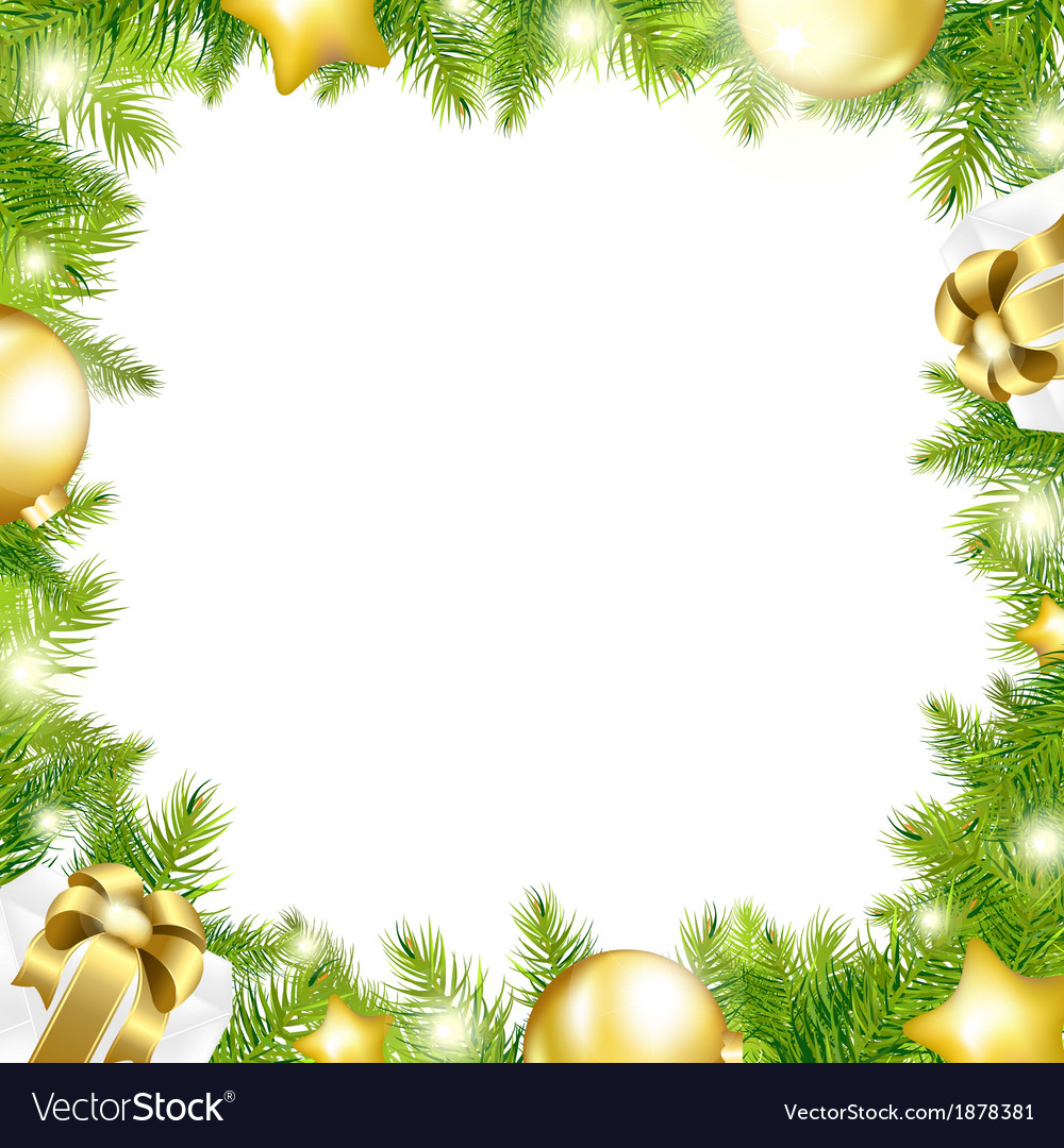 Christmas Background With Border.