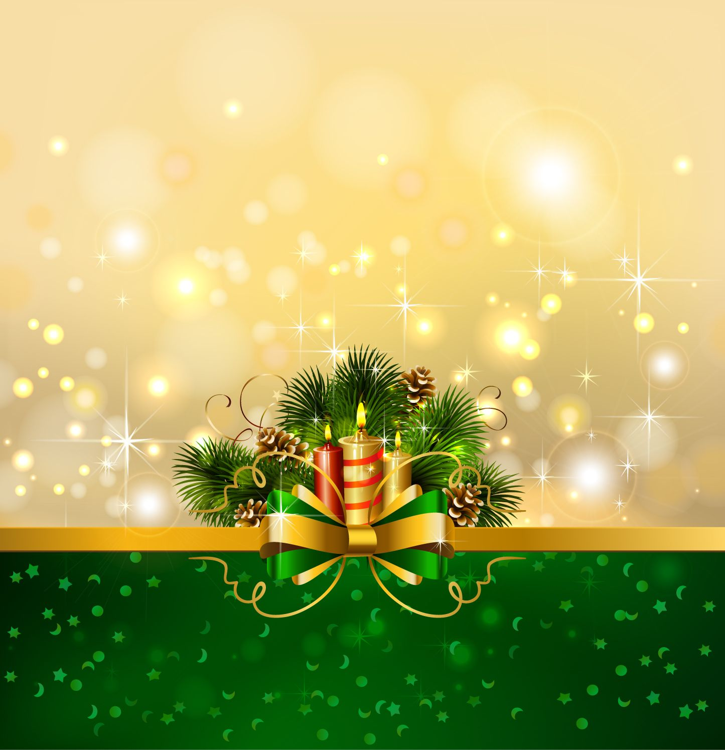 free vector Beautiful christmas background 04 vector.