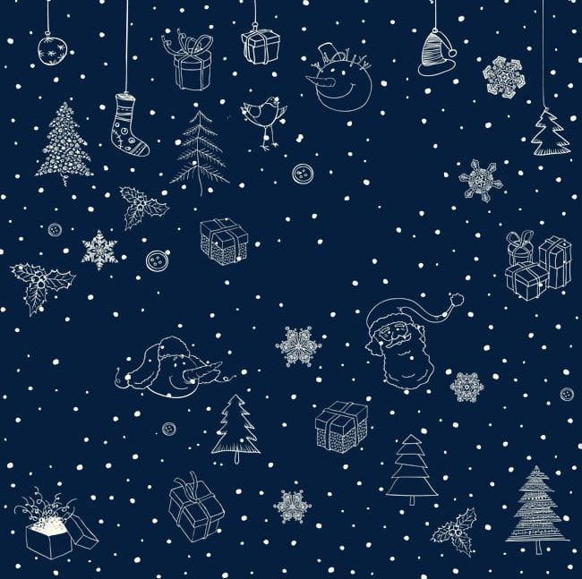 Yellow Christmas Background PNG, Clipart, Background, Border.