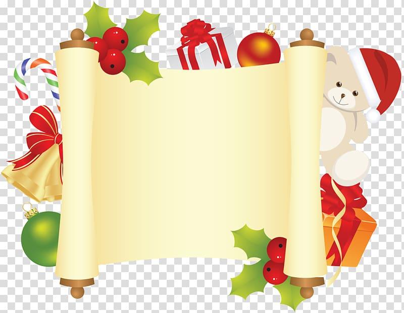 Santa Claus Paper Christmas , christmas border library.