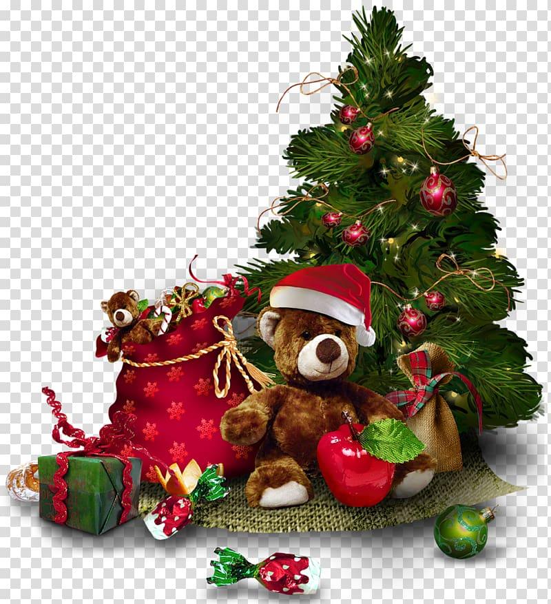 Christmas tree , Christmas Tree with Teddy Bear , green Christmas.