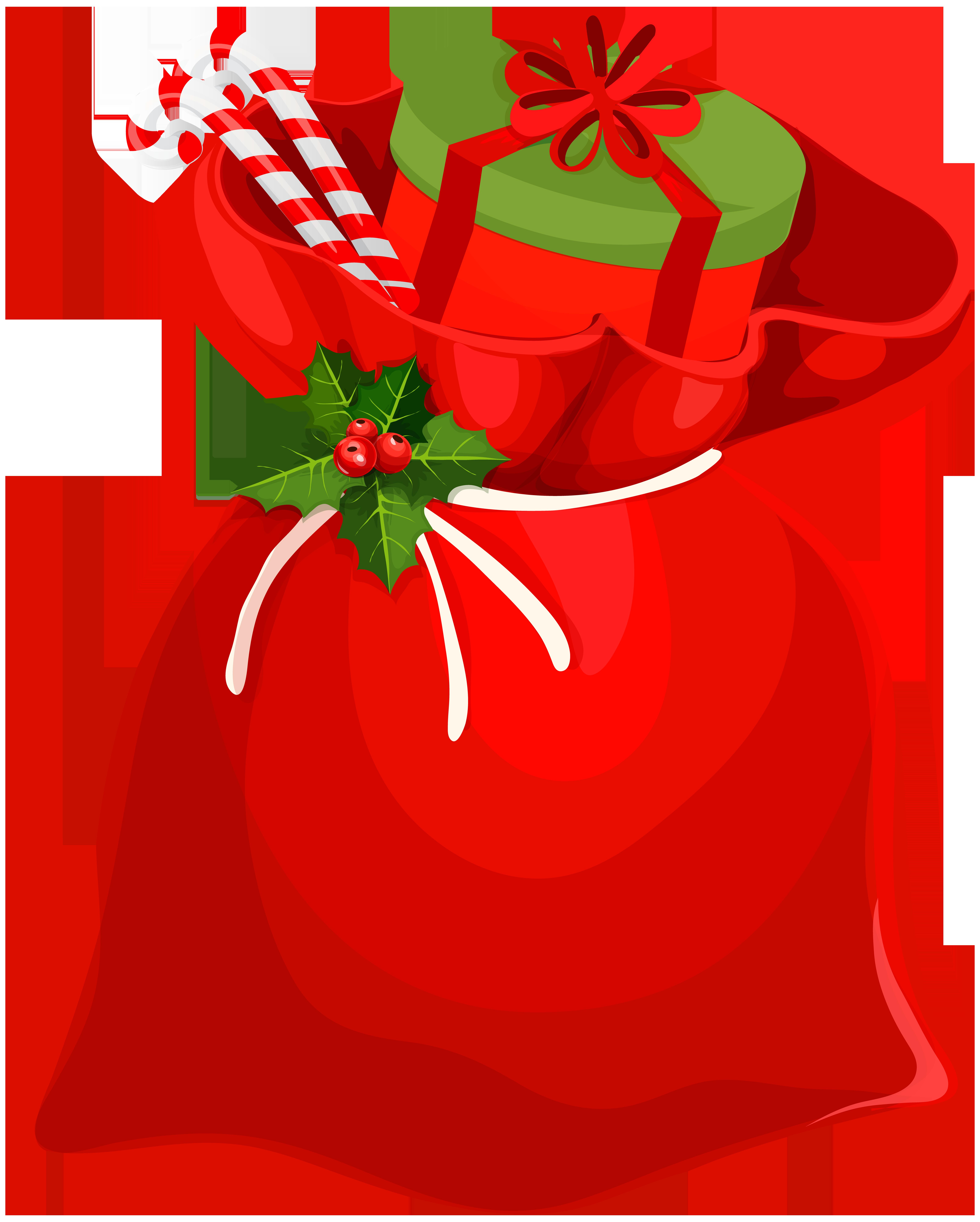 Christmas Santa Bag PNG Clip Art Image.