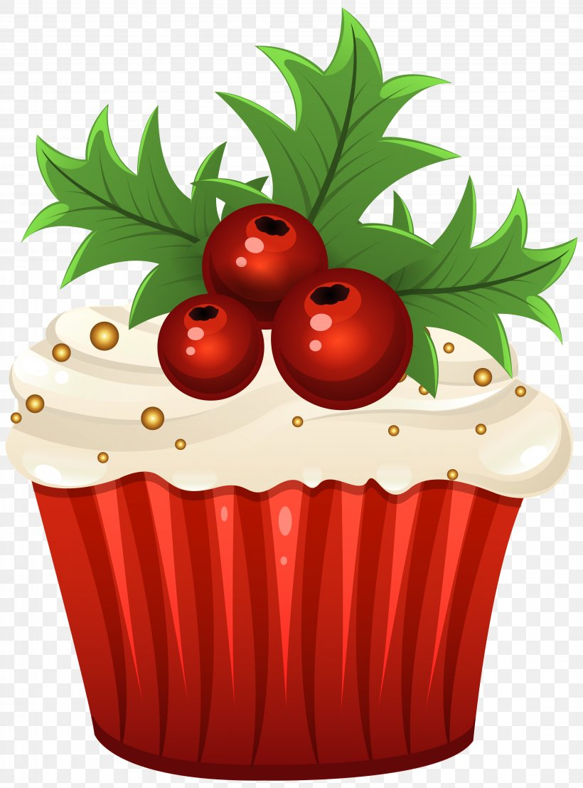 Muffin Cupcake Candy Cane Christmas Clip Art, PNG.