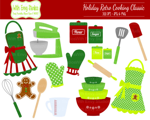 50% OFF Christmas Baking Clipart Cooking by WithEnvyPaper.