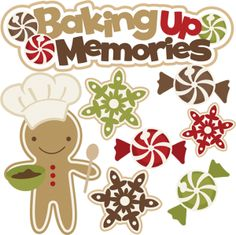 Clipart of christmas baking.