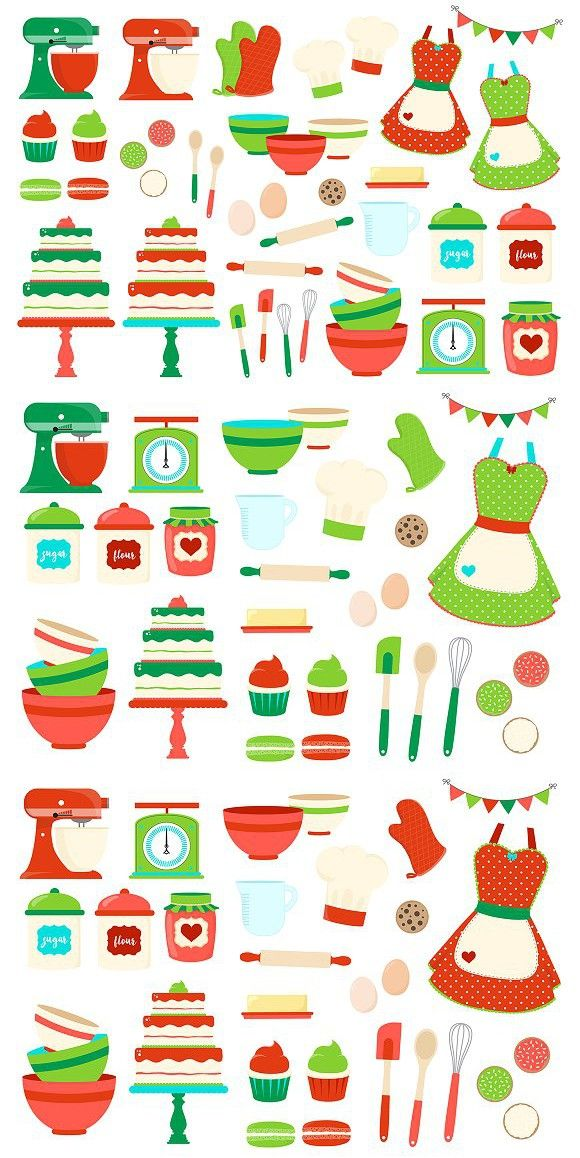 Christmas Baking Clipart.