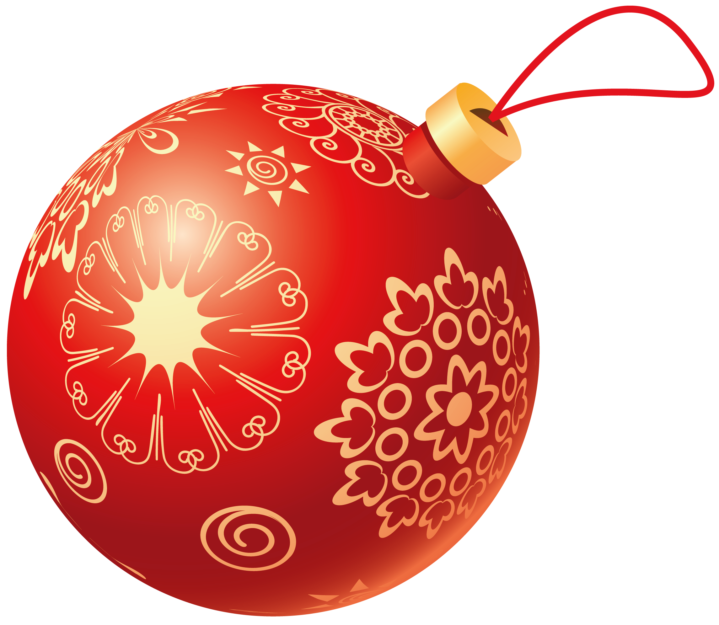 Christmas ball clipart free.