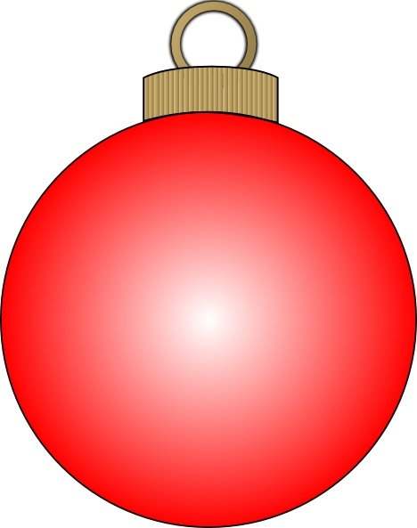 Christmas Ball clip art Free vector in Open office drawing.