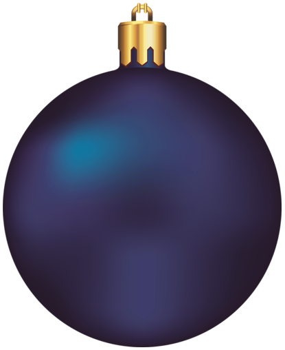Blue Christmas Ornament Clipart.
