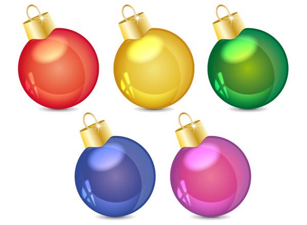 Christmas Balls Ornaments.