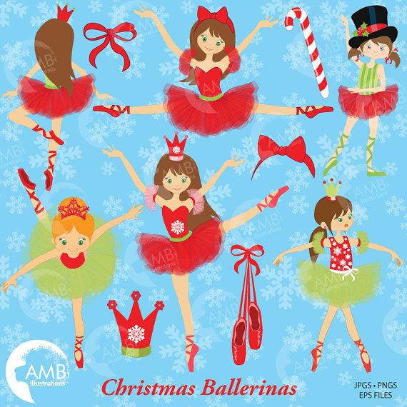 Christmas Ballerinas Ballerina clipart Ballet clipart.