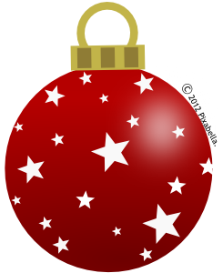 Pretty christmas balls clipart.