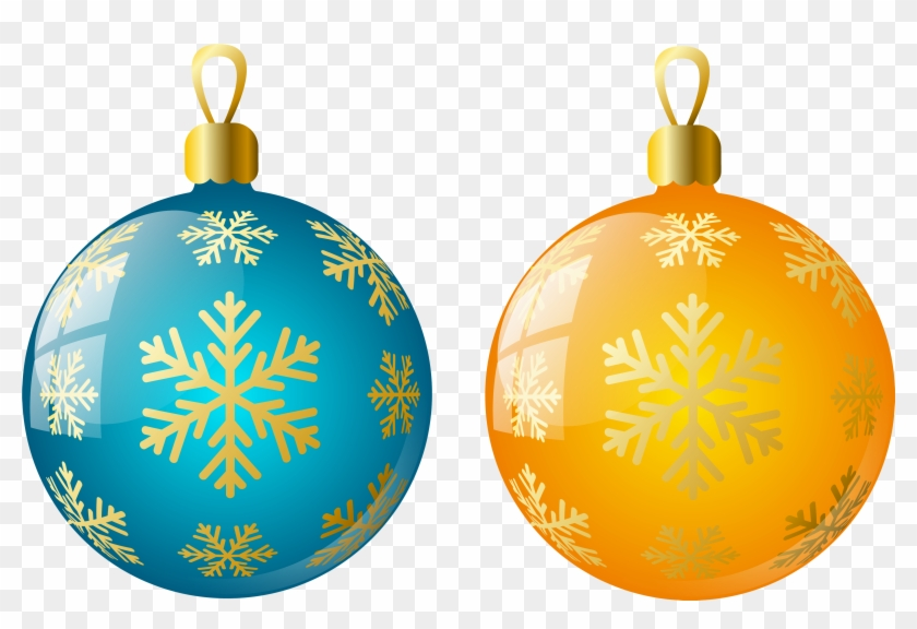Christmas ornaments clipart yellow free png.
