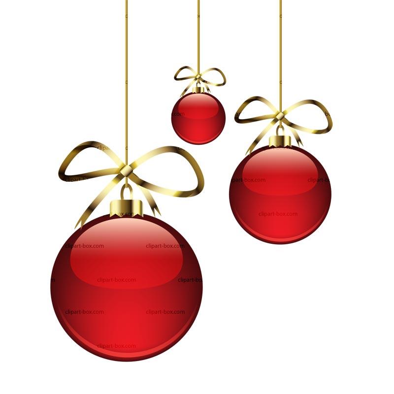 christmas bulbs clipart #19