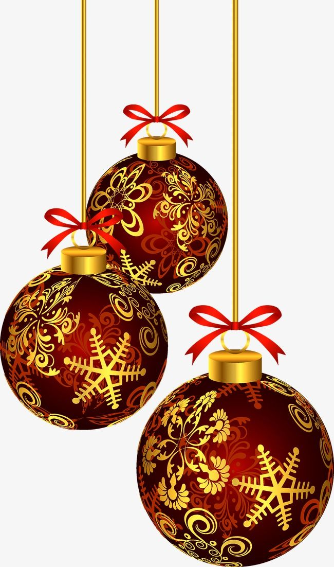 Christmas Balls, Christmas, Lob PNG and Vector with.