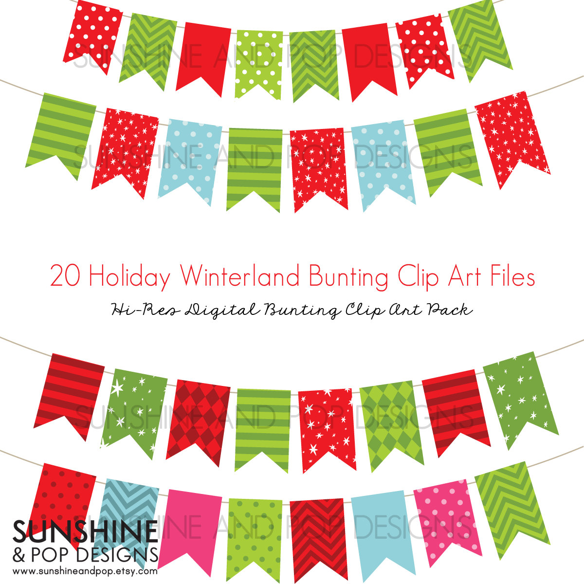 Christmas Clipart Banners.
