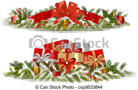 Free Christmas Clipart Banners.