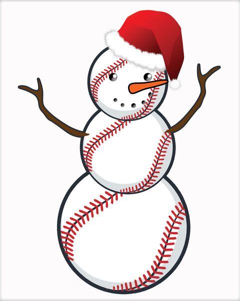 Snowman clipart baseball, Snowman baseball Transparent FREE.