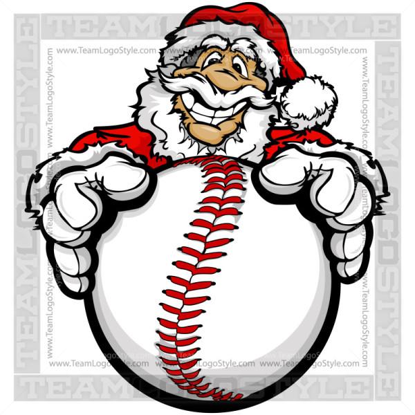 Christmas Baseball Clipart.