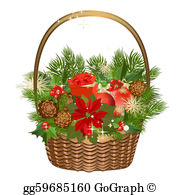 Gift Basket Clip Art.