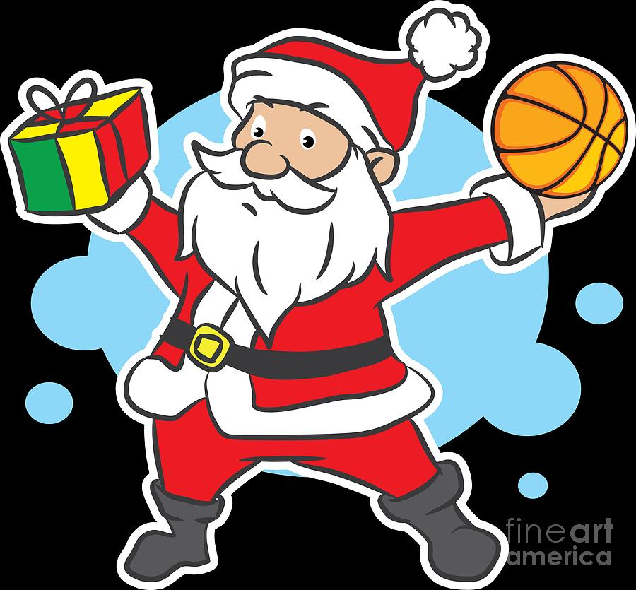 Christmas Xmas Santa Gift Basketball Holiday Gift Idea.