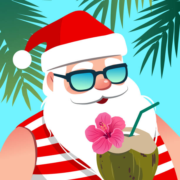 Best Tropical Christmas Illustrations, Royalty.