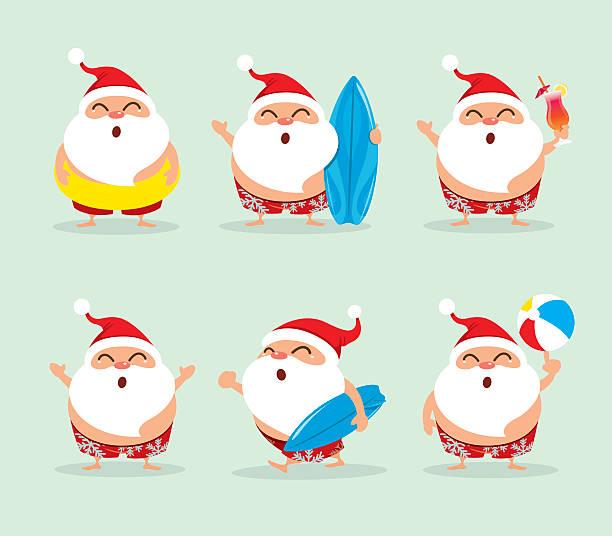Best Beach Christmas Illustrations, Royalty.