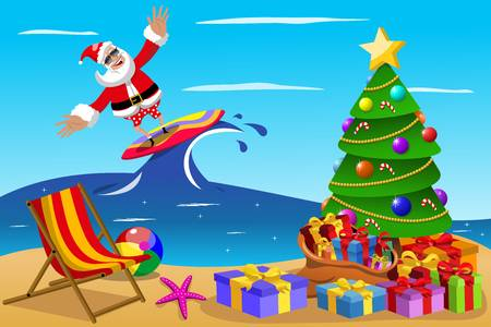 2,213 Christmas Beach Stock Vector Illustration And Royalty Free.