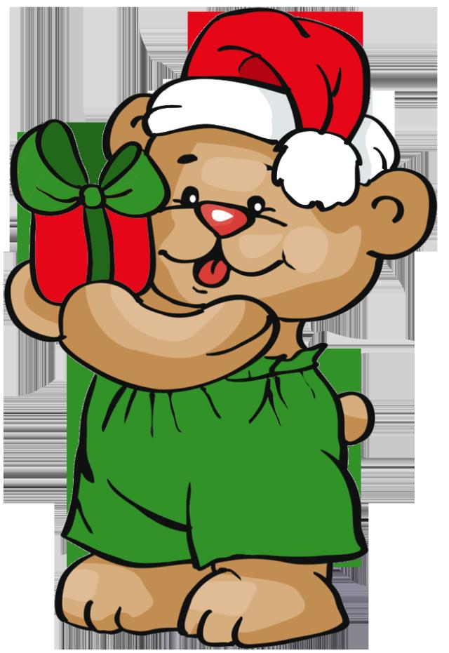 Christmas Teddy Bears Clip Art.