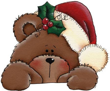 I love using this Christmas bear for our Winter Wonderland Flyers.