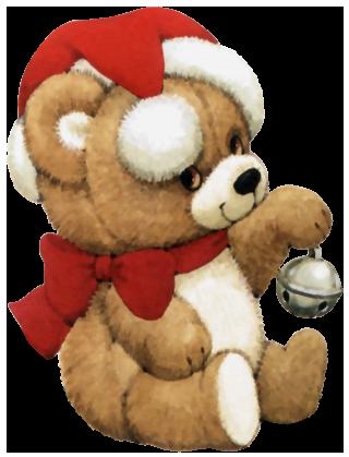 Transparent Christmas Cute Bear Clipart.