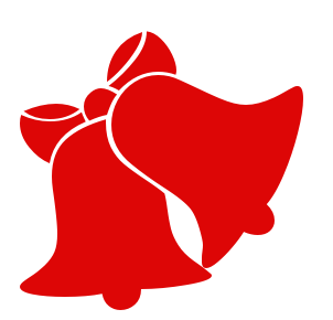 Free Christmas Bell Clipart.
