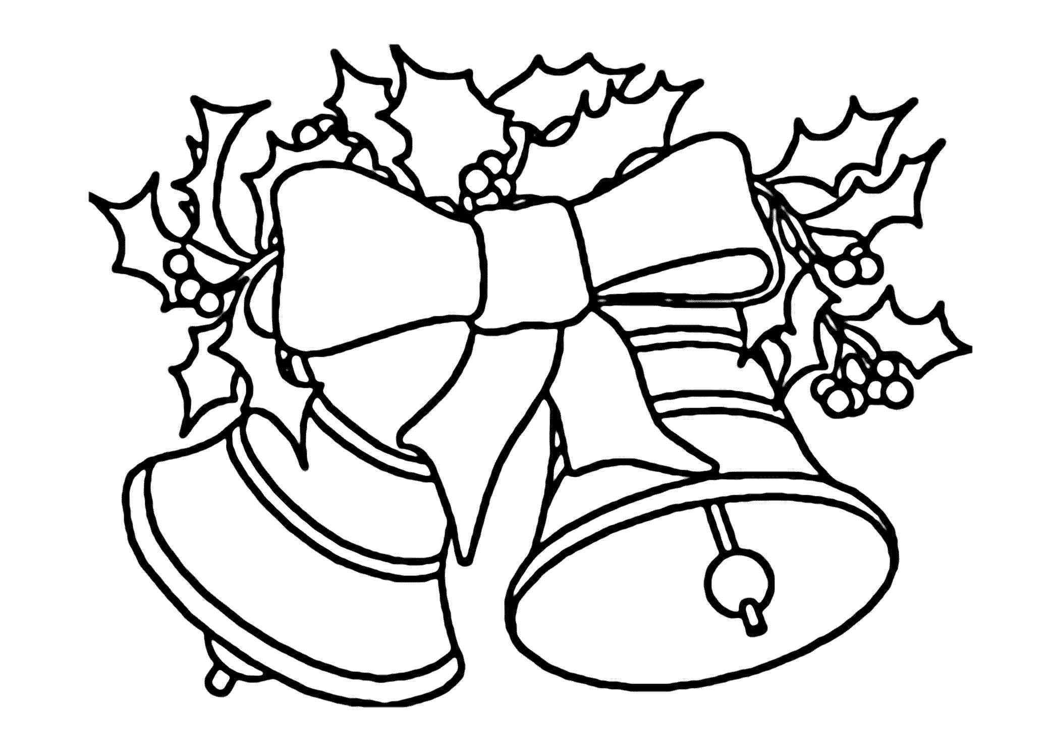 5+ Fresh Christmas Bell Clipart Black and White.