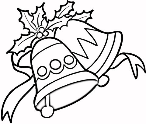 Jingle Bells Coloring Page.