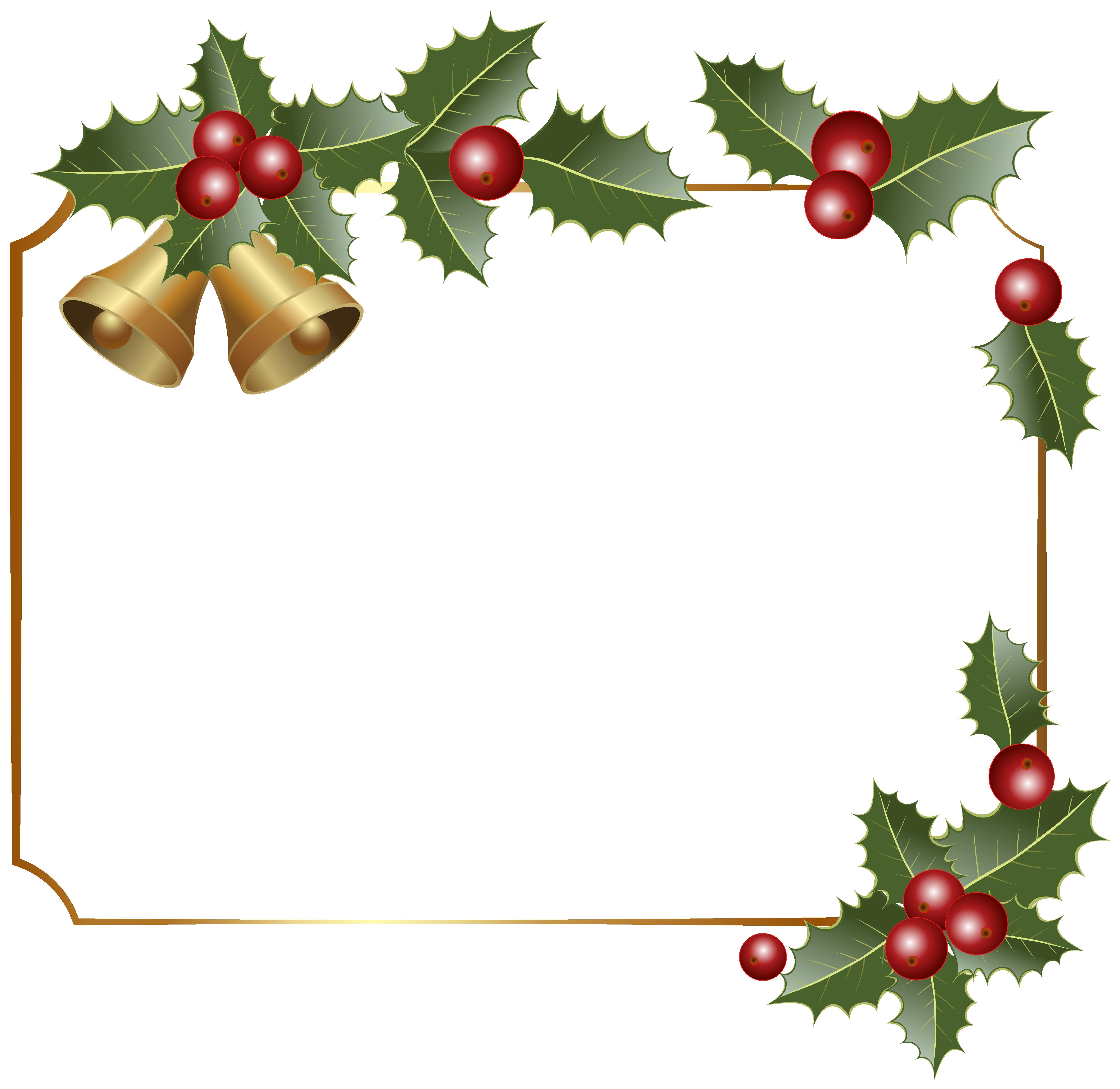 Christmas Bells Border Clipart.