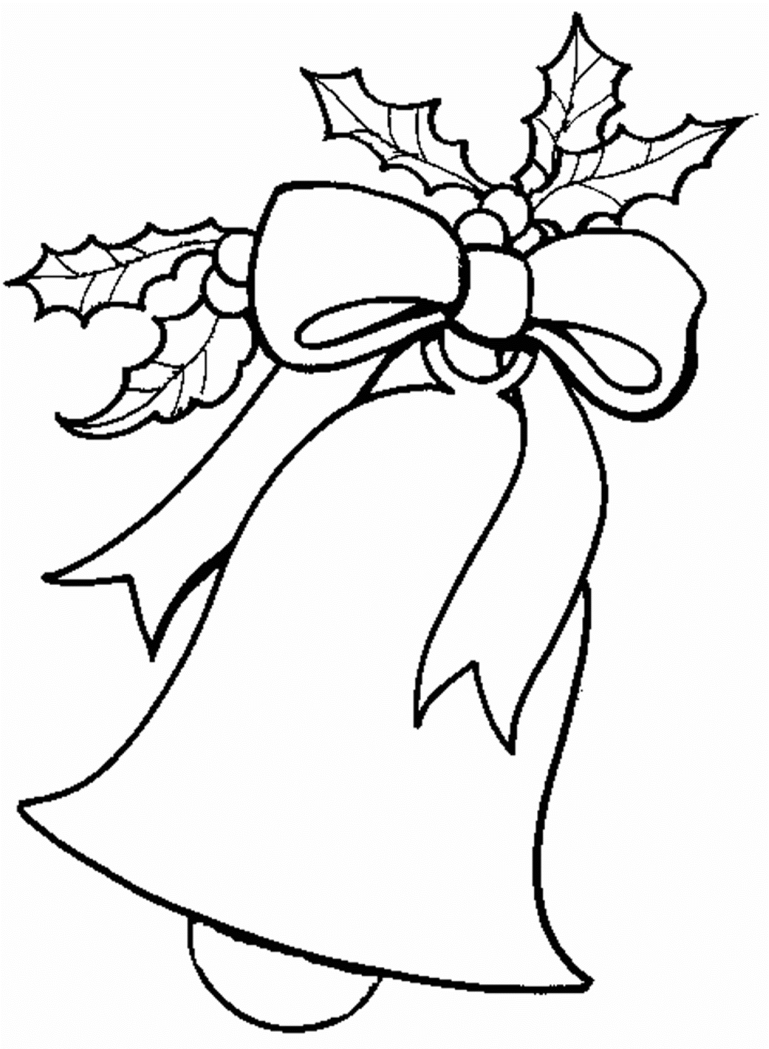 Christmas Black And White Coloring Pictures.
