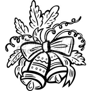 christmas bells clipart black and white #14