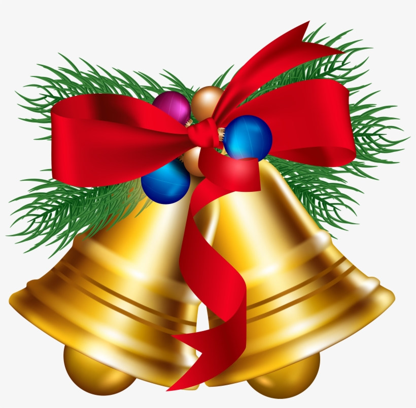View Full Size Christmas Bells Clip Art Black And.