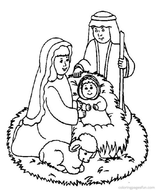 Free Christmas Bible Coloring Pages, Download Free Clip Art.