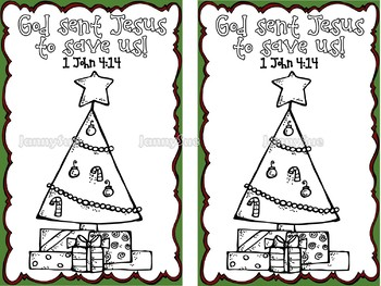 Christmas Story coloring book with Bible Verse.