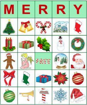 christmas bingo clipart #12